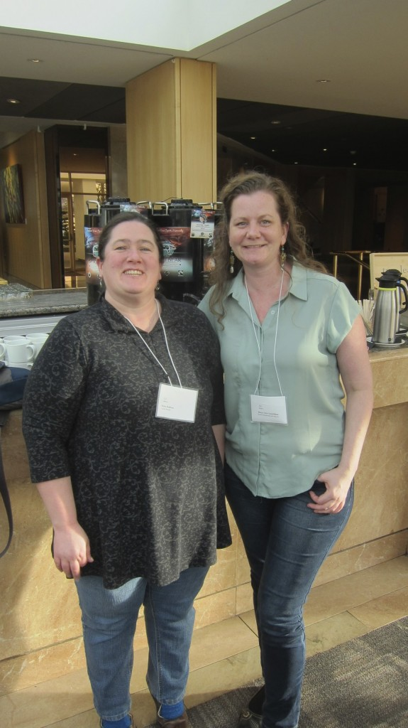 Erin and Mary-Ann  at the Spring 2015 Book Fair