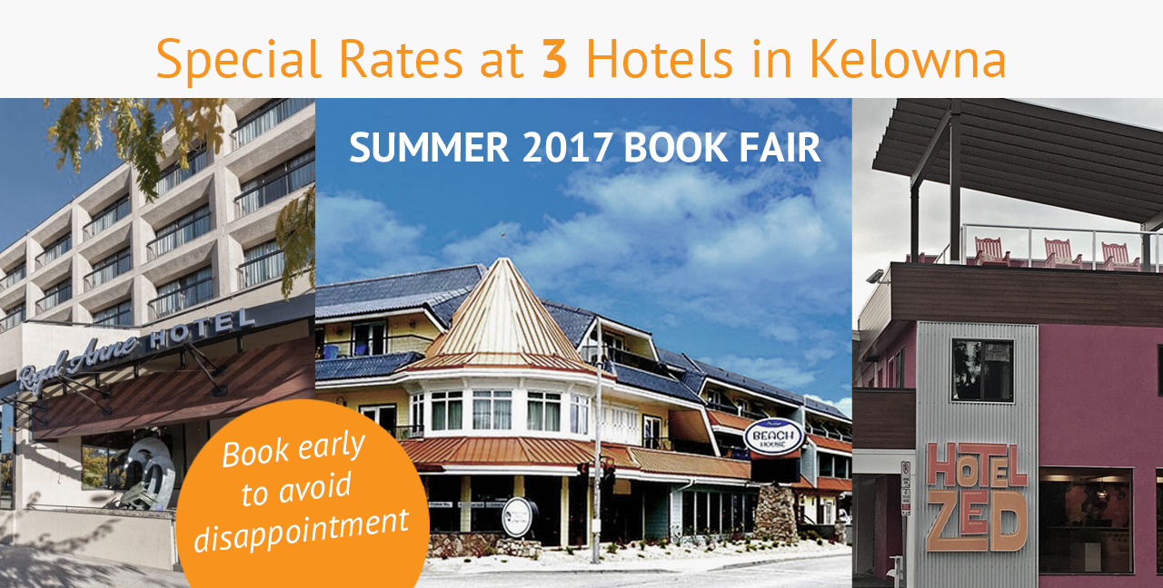 Book your hotel for the Summer 2017 Book Fair now!